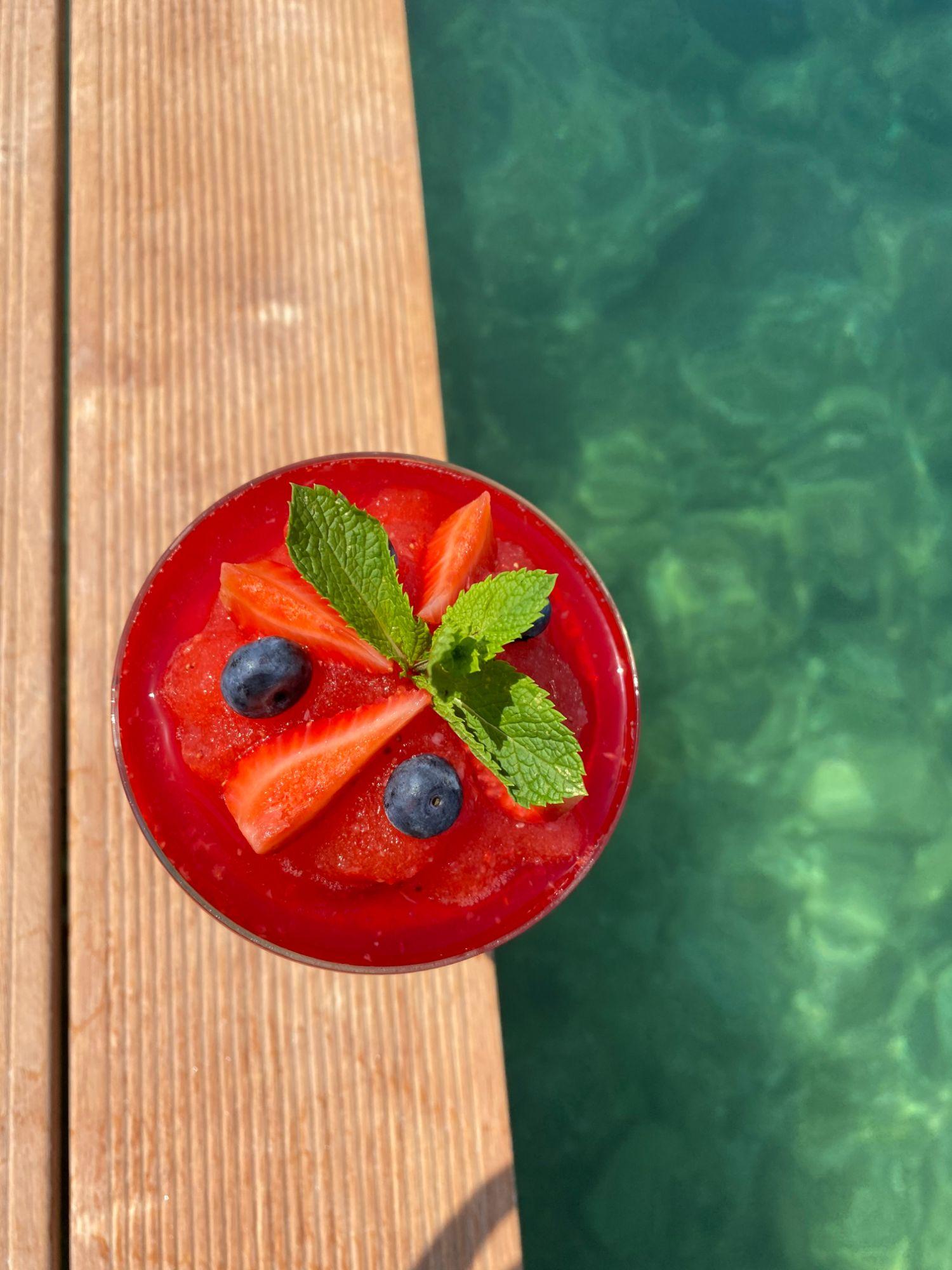 Coral Beach Sundown Cocktail